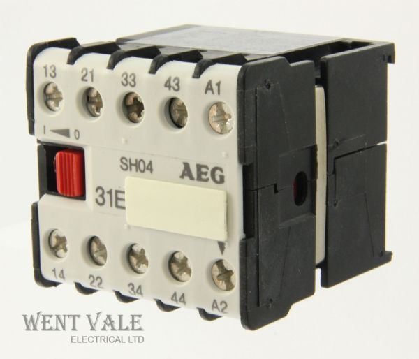 AEG SH04-910-302-163-81 -16a 31E 4 Pole Mini Control Relay 240vac Coil Un-used